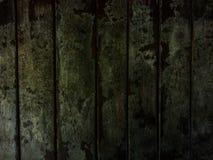 Struttura di legno nella disposizione scura e spaventosa Fotografia Stock Libera da Diritti