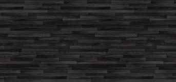 Struttura di legno nera del parquet vecchi comitati del fondo Fotografia Stock Libera da Diritti