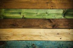 Struttura di legno per fondo o la carta da parati, colori multipli di legno Immagine Stock