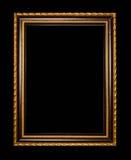 Struttura di legno per pittura o immagine su fondo nero Fotografie Stock Libere da Diritti
