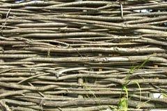 Struttura di legno, recinto di vimini del legno duro Immagini Stock Libere da Diritti