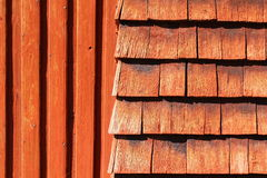 Struttura di legno rossa naturale Immagine Stock Libera da Diritti