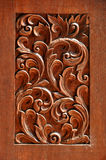 Struttura di legno scolpito Fotografia Stock