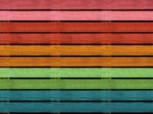 Struttura di legno senza cuciture del pavimento o della pavimentazione, colori di legno dell'arcobaleno del pallet Immagine Stock