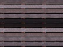 Struttura di legno senza cuciture del pavimento o della pavimentazione, pallet di legno Fotografia Stock