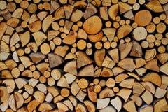 Struttura di legno tagliata della priorità bassa del fuoco Immagini Stock