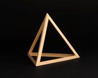 Struttura di legno tridimensionale del triangolo Fotografia Stock Libera da Diritti