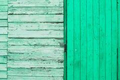 Struttura di legno verde Fotografie Stock
