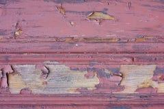 Struttura di legno verniciata rossa Fotografia Stock