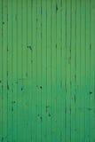 Struttura di legno verniciata verde Fotografia Stock