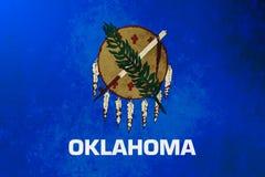 Struttura di lerciume del fondo della bandiera dello stato di Oklahoma royalty illustrazione gratis