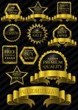 Struttura di lusso dell'oro dell'etichetta Immagine Stock Libera da Diritti