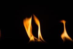 Struttura di macro del fondo della fiamma del fuoco Immagine Stock Libera da Diritti