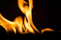 Struttura di macro del fondo della fiamma del fuoco Immagini Stock Libere da Diritti