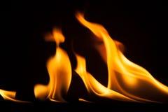 Struttura di macro del fondo della fiamma del fuoco Fotografie Stock