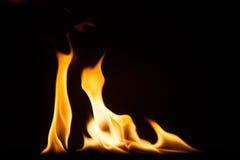 Struttura di macro del fondo della fiamma del fuoco Fotografia Stock Libera da Diritti