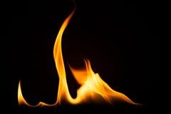 Struttura di macro del fondo della fiamma del fuoco Immagine Stock