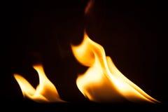 Struttura di macro del fondo della fiamma del fuoco Immagini Stock