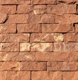 Struttura di marmo arancio della pietra, dell'ardesia, dell'arenaria e del travertino del rivestimento immagine stock libera da diritti