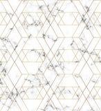 Struttura di marmo bianca con la linea modello dell'oro Fondo per le progettazioni, insegna, carta, aletta di filatoio, invito, p illustrazione di stock