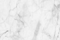 Struttura di marmo bianca, struttura dettagliata di marmo in naturale modellato per fondo e progettazione Immagine Stock Libera da Diritti