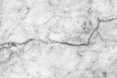 Struttura di marmo bianca, struttura dettagliata di marmo in naturale modellato per fondo e progettazione Fotografie Stock Libere da Diritti