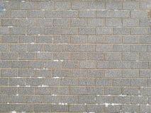 Struttura di marmo grigia del muro di mattoni Fotografia Stock