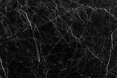 Struttura di marmo grigia nera nel modello naturale con l'alta risoluzione per fondo Pavimento di pietra delle mattonelle Fotografia Stock Libera da Diritti