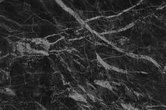 Struttura di marmo grigia nera nel modello naturale con l'alta risoluzione per fondo Pavimento di pietra delle mattonelle Fotografia Stock