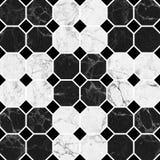 Struttura di marmo nera del modello Fotografie Stock