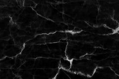 Struttura di marmo nera in naturale modellato per fondo e progettazione Fotografia Stock