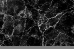 Struttura di marmo nera in naturale modellato per fondo e progettazione Immagine Stock
