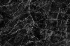 Struttura di marmo nera in naturale modellato per fondo e progettazione Immagine Stock Libera da Diritti