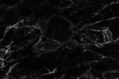 Struttura di marmo nera in naturale modellato per fondo e progettazione Immagini Stock