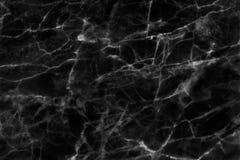 Struttura di marmo nera in naturale modellato per fondo e progettazione Immagini Stock Libere da Diritti