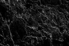 Struttura di marmo nera in naturale modellato per fondo e progettazione Fotografia Stock Libera da Diritti