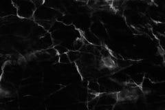 Struttura di marmo nera in naturale modellato per fondo e progettazione Fotografie Stock Libere da Diritti