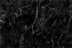 Struttura di marmo nera nel modello naturale con l'alta risoluzione Pavimento di pietra delle mattonelle Fotografia Stock Libera da Diritti