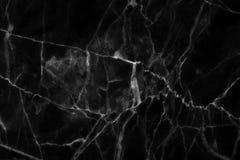 Struttura di marmo nera, struttura dettagliata di marmo in naturale modellato per fondo e progettazione Fotografie Stock