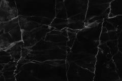 Struttura di marmo nera, struttura dettagliata di marmo in naturale modellato per fondo e progettazione Fotografie Stock Libere da Diritti