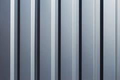Struttura di metallo ondulato grigio Immagini Stock