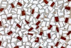 Struttura di mosaico astratta delle mattonelle rotte come fondo immagini stock libere da diritti