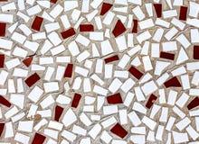 Struttura di mosaico astratta delle mattonelle rotte come fondo fotografia stock