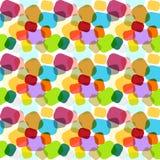 Struttura di mosaico astratta variopinta senza cuciture Fotografie Stock Libere da Diritti