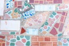 Struttura di mosaico di pietra di marmo delle mattonelle alta ricerca Immagine Stock
