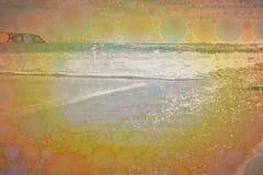Struttura di mosaico praticante il surfing astratta Fotografie Stock