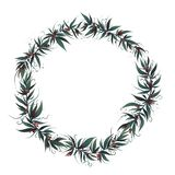 Struttura di Natale con le foglie e la bacca illustrazione di stock