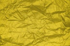 Struttura di nylon dello strato della grinza dell'oro Immagine Stock