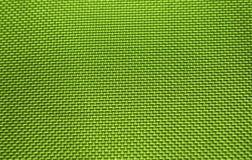 Struttura di nylon verde del tessuto Fotografia Stock