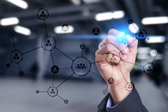 Struttura di organizzazione Rete sociale del ` s della gente Concetto di tecnologia e di affari immagine stock